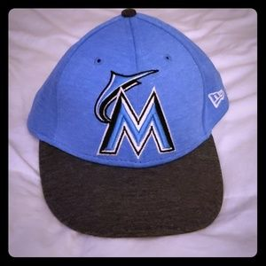 Marlin's New logo custom fitted hat